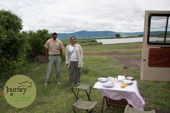 lunch in Ngorongoro Crater